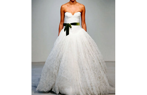 Vera Wang's wedding gowns,